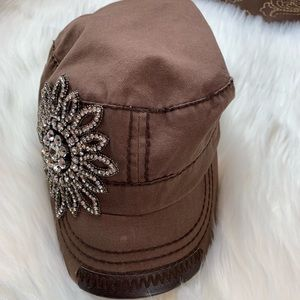 Olive & Pique Military Style Bling Hat